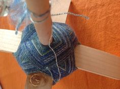 Silk and merino Turkish drop spindle.
