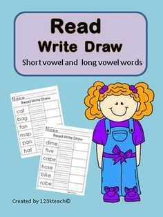 Here is a set of Read Write Draw worksheets which include short and vowel words. You will receive 14 worksheets which include 78 words in all. Just Print & Go!