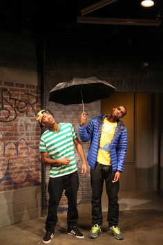 WHEN JANUARY FEELS LIKE SUMMER cast members: Carter Redwood and Maurice Williams.