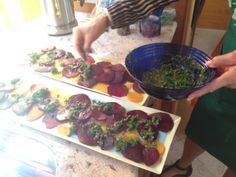 #ThrowbackThursday to one of our family's Easter Dinner starters - Beet Carpaccio! SO yummy.   Recipe >> http://goo.gl/E2BYC6  #tbt #eatclean #vegan #cleaneating