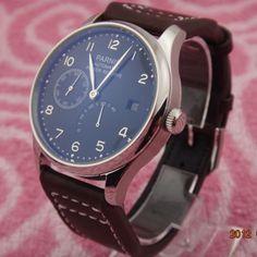 PARNIS 43mm Black dial Power Reserve Automatic mechanical men's watch