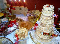 Norwegian Christmas Dessert Table