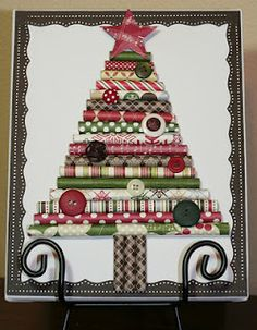 Rolled Christmas Paper Tree