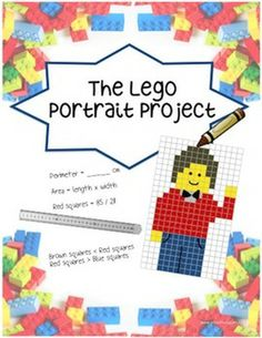Lego Portrait Project - Fractions, Area, Perimeter, Art