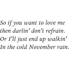 guns and roses lyrics november rain -