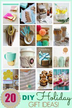 Top 20 DIY Holiday Gift Ideas - Craft-O-Maniac #arzus