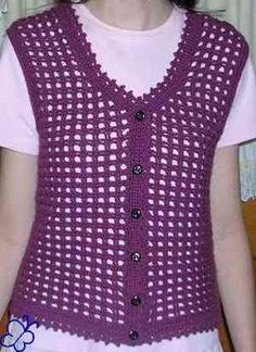 Crochet Vest Ideas on Pinterest Crochet Vests, Crochet ...