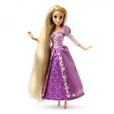 The Disney Princess Classic Rapunzel doll is part of Disney Store's exclusive line of 12-inch classic collection of Disney Princess dolls.