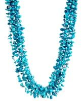 You'll stand out in this necklace for sure!  Kenneth Cole New York Necklace, Semi Precious Turquoise Chip Multi Strand Necklace
