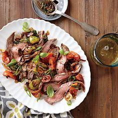 Flank Steak with Tomato-Balsamic Sauce | MyRecipes.com
