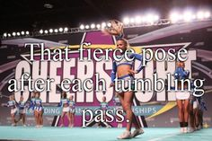 """love that pose! I picture thecrowd sayingf """"oh no she didnt!"""" so Im like """"oh YES! I did"""" having conversations with the crowd in your head #cheerprobs #dontjudge...unlessyoureajudge"""