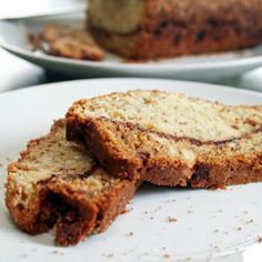 Gluten free gooey cinnamon swirled classic banana bread