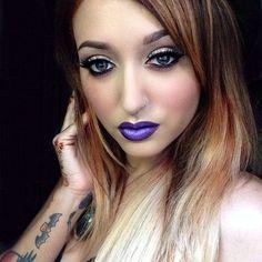 pretty purple lips