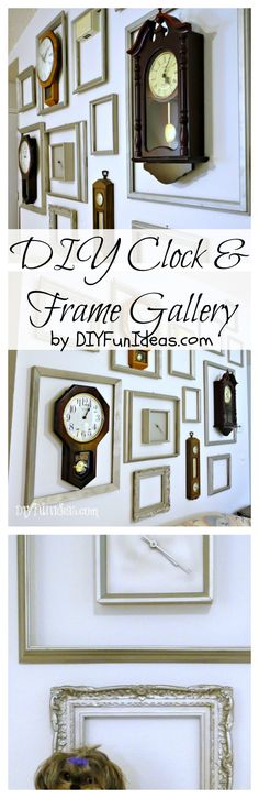 DIY CLOCK AND FRAME GALLERY | Check out all the fun DIYs at DIYFunIdeas.com