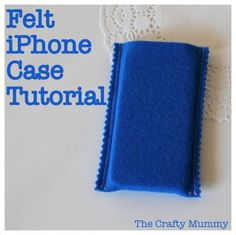 Felt iPhone Case Tutorial  #craft #sewing #tutorial