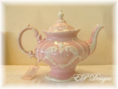 Teapot Ornate and Pink.