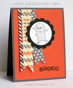 Halloween card with Stampin' Up! Googly Ghouls stamp set -- by Julie Davison, http://juliedavison.com