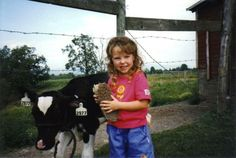 This little girl is now all grown up and attending Cornell for Animal Science and Dairy, and today she talks about life in one of the 1200 farm families who Cabot Creamery Cooperative! #FarmerFriday #farmlove