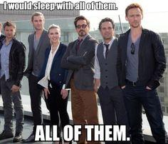 you heard me..ALL of them.  haha.