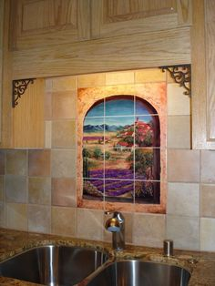 Mediteranean Kitchen backsplash