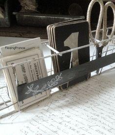 FleaingFrance.......Vintage French Boutique Display Rack - Chalkboard Plaque
