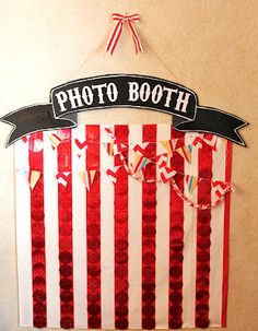 Photo booth idea for a blank wall indoors. --- for outdoors: build a freestanding wall with, perhaps, a picture frame opening.