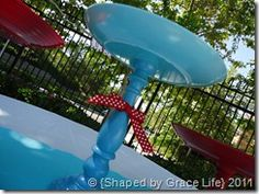 Cute 4th of July cake stand idea! :)