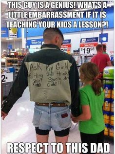 teaching your kids a lesson...