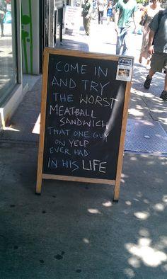 Worst Meatball Sandwich...
