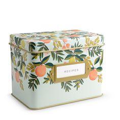 $34 Citrus Floral Recipe Box