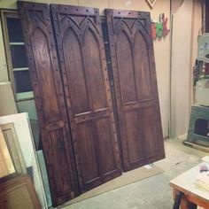 Gothic-Door-Solid-Wo