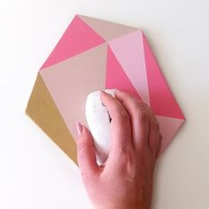 DIY Faceted Gem Mouse Pad. Add some style to your desk with this easy tutorial.