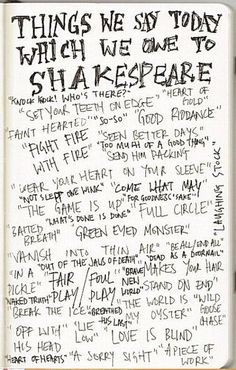 #Things we say today which we owe to #Shakespeare
