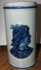 Old Sleepy Eye Cattail Stoneware Vase 23rd Collector's Convention 1998 Moline IL