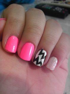winter, cakes, neon chevron nails, neon pink nails design, nail arts