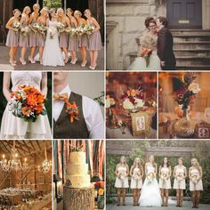 Rustic Fall Wedding Inspiration - Wedding Flower Trends for Summer and Fall 2014! http://blog.fiftyflowers.com/wedding-flower-trends-for-summer-and-fall-2014/