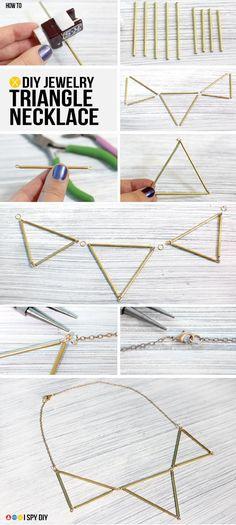 I Spy DIY: MY DIY | Triangle Necklace