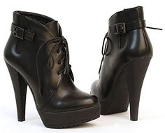 ADIRAS LACE-UP BOOTIE BY CHARLES DAVID BLACK
