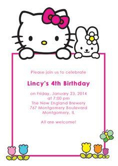 Hello Kitty Free Birthday Invitation