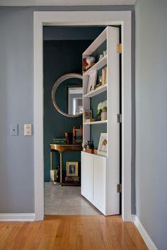 The door is a bookshelf!! OMG