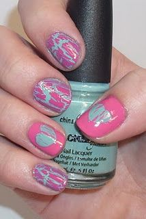I know what I'm doing with my crackle nail polish when I get home.