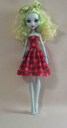 Handmade Monster High Doll Clothes Christmas by PersnicketyGrandma, $4.00