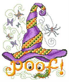 POOF Hat cross stitch pattern.