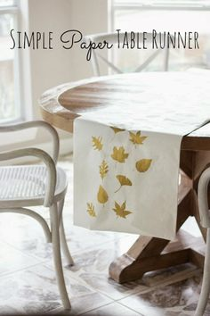 Simple Paper Stamp Thanksgiving Table Runner