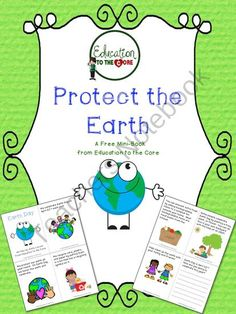 FREE! Protect the Earth: An Earth Day Mini-Book from Education to the Core on TeachersNotebook.com (8 pages)  - If you love your planet, and you want your kids to learn about the importance of taking care of the earth, this mini-book is just the product for you! This reader included information about recycling, picking up trash, compost bins, and planting new life.