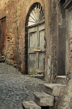 the doors, stone steps, door ways, arch, rustic doors, old doors, wood doors, stone walkways