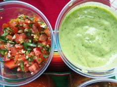Tomatillo Avocado Salsa - The Green Sauce - Hispanic Kitchen