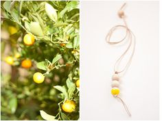 Yellow St Tropez necklace by levoyagecreatif on Etsy, $41.00