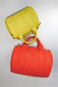 Alexander Wang - Rocco Studded Duffle Bag. A pop of color! #rocco #wang