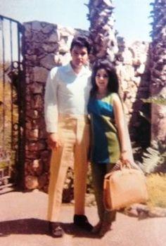 Priscilla & Elvis on their honeymoon in Palm Springs, CA.